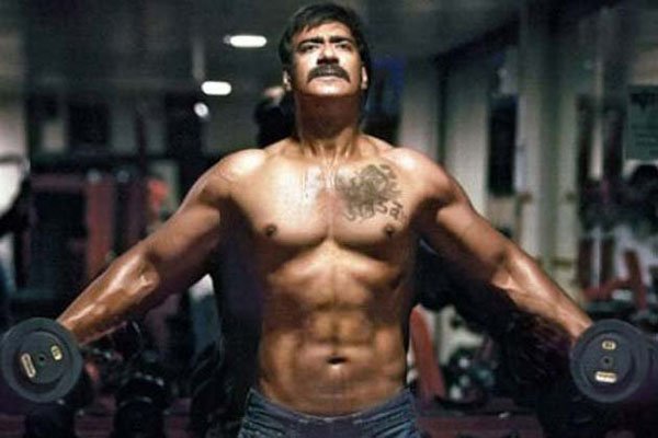 11jun AD singham03 Ajay Devgn's beefed up look for 'Singham'