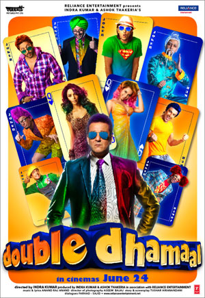 "11jul doubledhamaalhomevid Reliance Home Video releases ""Double Dhamaal"""