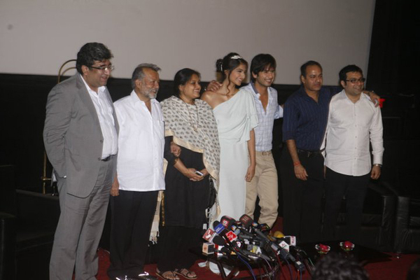"11jul mausum music02 ""This film means a lot more to us than just a film"": Shahid at Mausam Trailer launch"