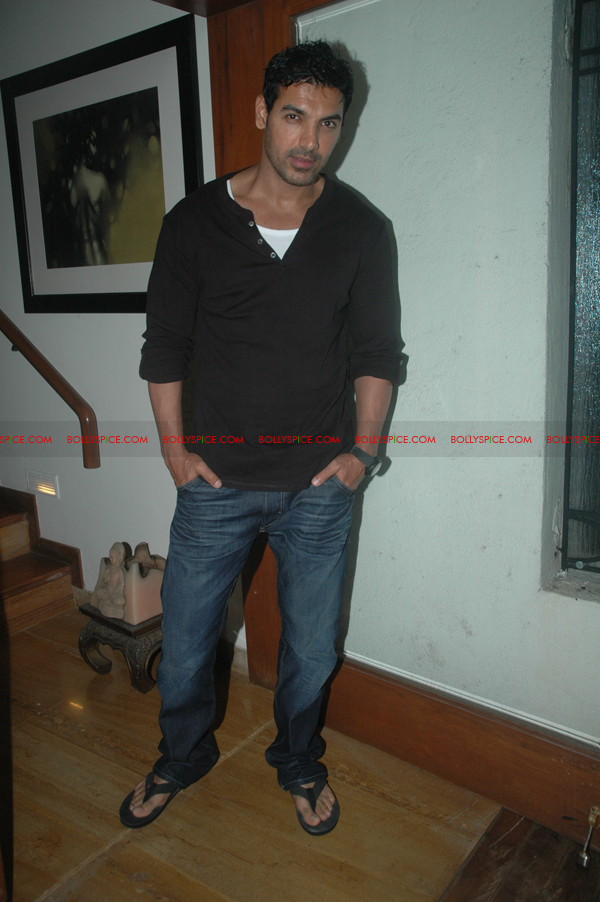 11aug shootoutatwadalaparty02 John Abraham at Shootout at Wadala party