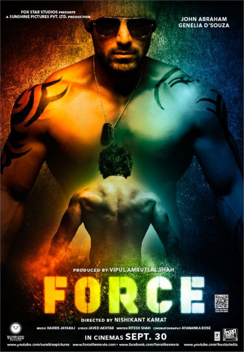 11sep forceposternew02 John Abraham a FORCE not to be reckoned with