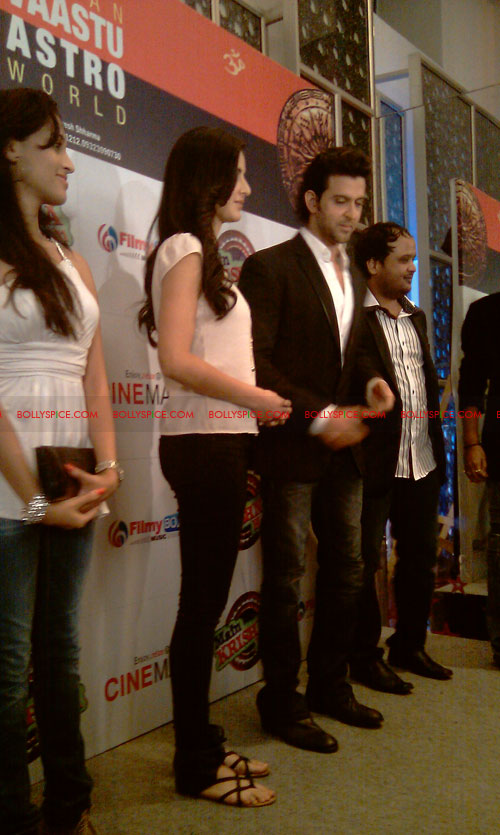 11sep mainhoonkrishna11 Hrithik and Katrina at Main Krishna Hoon Music Launch