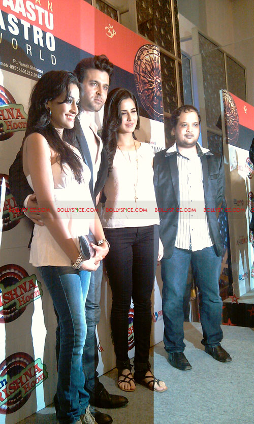 11sep mainhoonkrishna13 Hrithik and Katrina at Main Krishna Hoon Music Launch