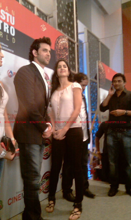 11sep mainhoonkrishna19 Hrithik and Katrina at Main Krishna Hoon Music Launch