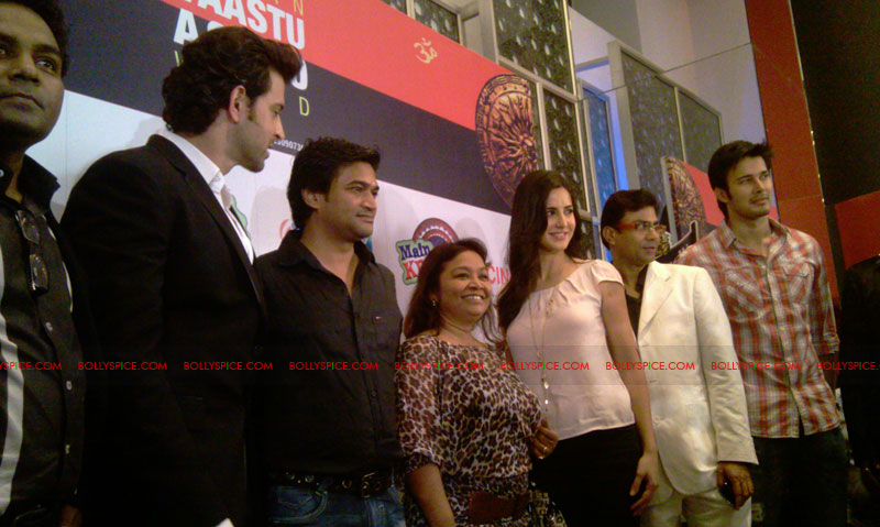 11sep mainhoonkrishna24 Hrithik and Katrina at Main Krishna Hoon Music Launch
