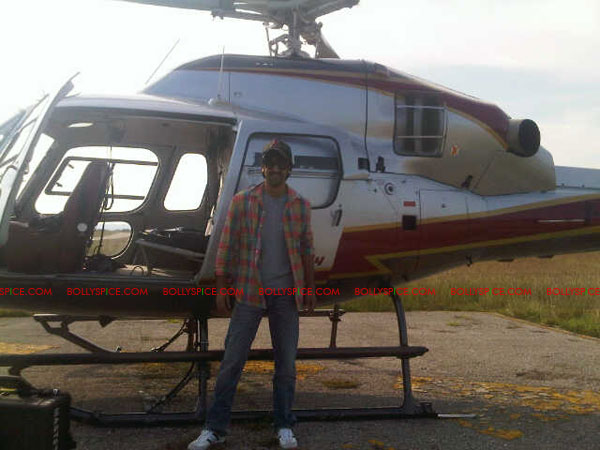 11sep ranbir chopper02 Ranbir faces the other side of the camera!