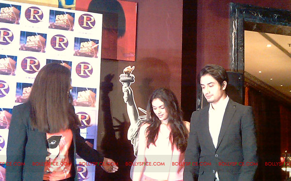11sep zafar rao launch04 Ali Zafar and Aditi Rao at London Paris New York Launch