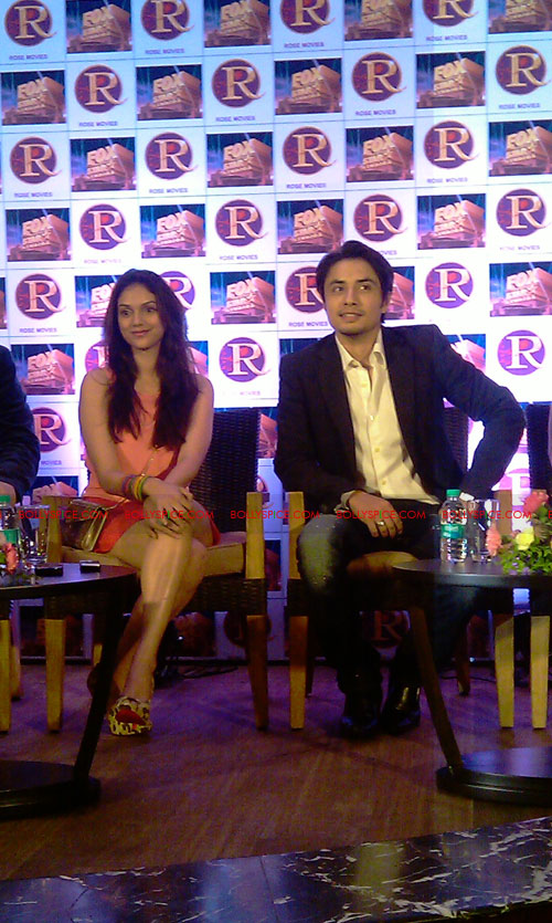 11sep zafar rao launch11 Ali Zafar and Aditi Rao at London Paris New York Launch