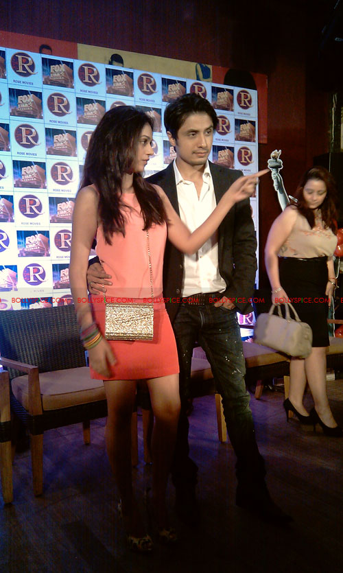 11sep zafar rao launch21 Ali Zafar and Aditi Rao at London Paris New York Launch