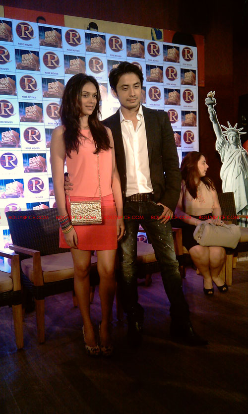 11sep zafar rao launch26 Ali Zafar and Aditi Rao at London Paris New York Launch