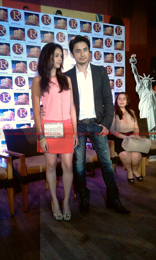 11sep zafar rao launch27 Ali Zafar and Aditi Rao at London Paris New York Launch