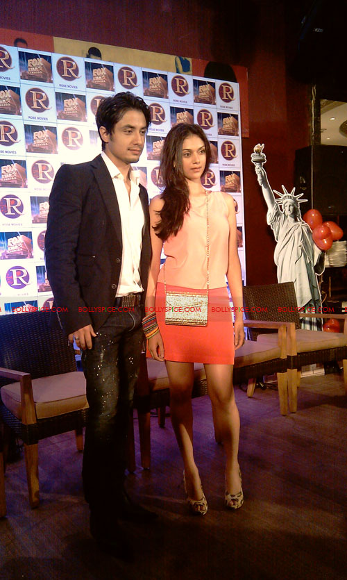 11sep zafar rao launch31 Ali Zafar and Aditi Rao at London Paris New York Launch