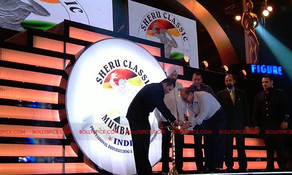 11oct sheraclassic03 Amitabh Bachchan, Sanjay Dutt and Rana at Sheru Classic 2011
