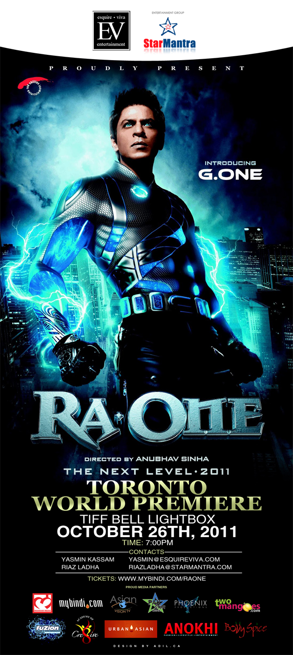 ra.one premiere webflyer Ra.One to premiere in Toronto