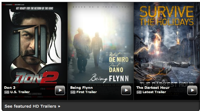 Screen Shot 2011 11 30 at 5.42.14 PM Don 2 trailer Featured on IMDB!