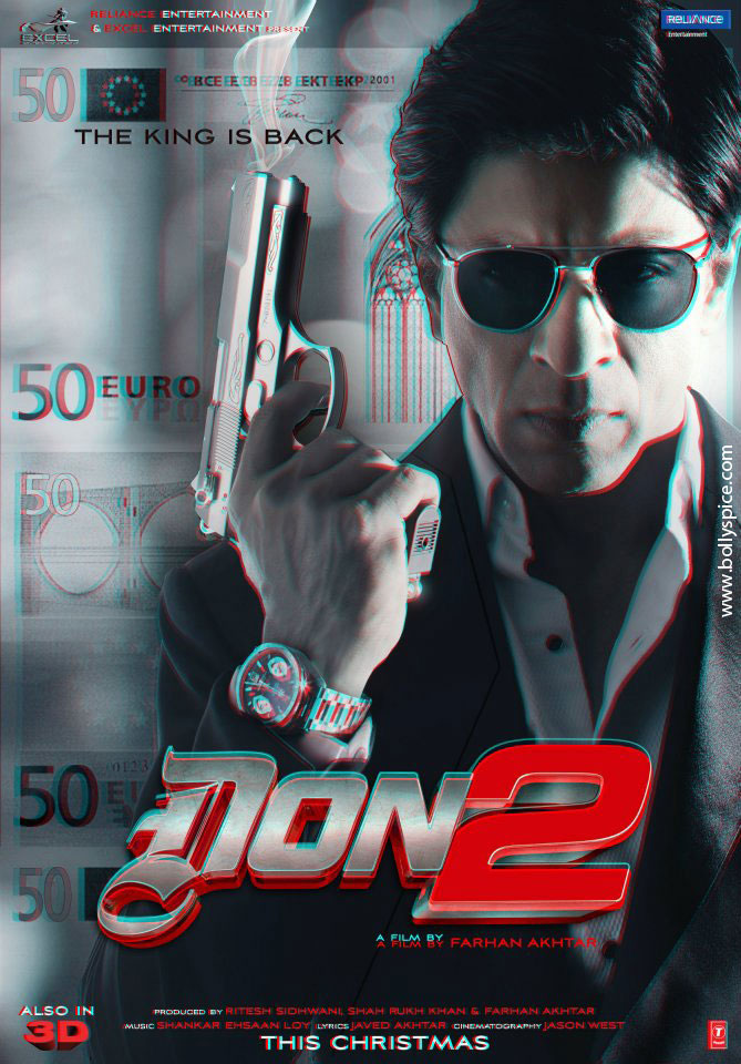 11dec Don2 3Dposter04 Don 2 releases 3D posters!