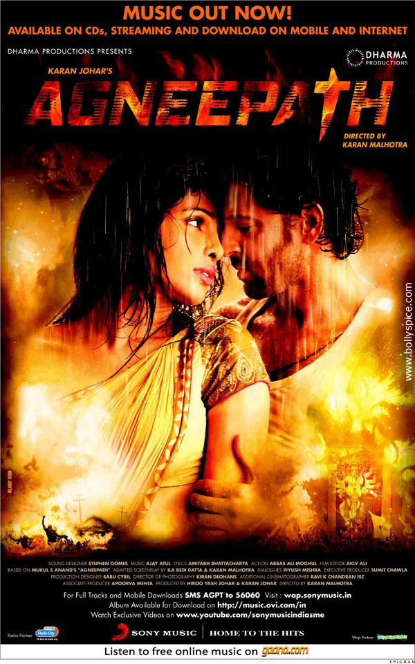 11dec agneepath poster Agneepath second theatrical promo to release tomorrow