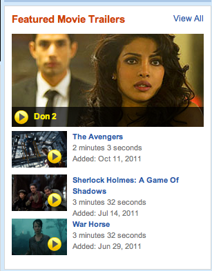 Screen Shot 2011 12 07 at 12.50.55 PM Don 2 Trailer Featured on RottenTomatoes.com!