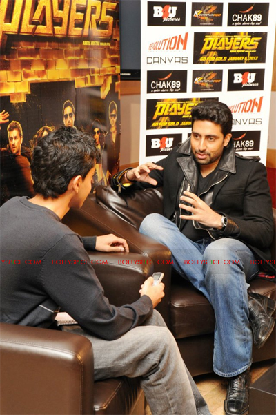 01jan abhiinterview 01 We are not here to win any awards or to get the greatest reviews  Abhishek Bachchan