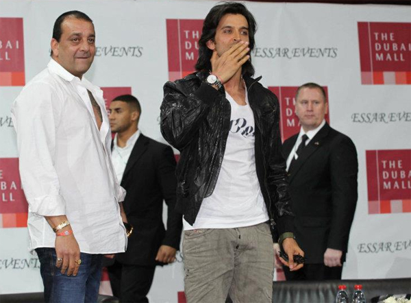01jan agneepathdubai 01a Special Report: Hrithik and Sanjay promote Agneepath in Dubai