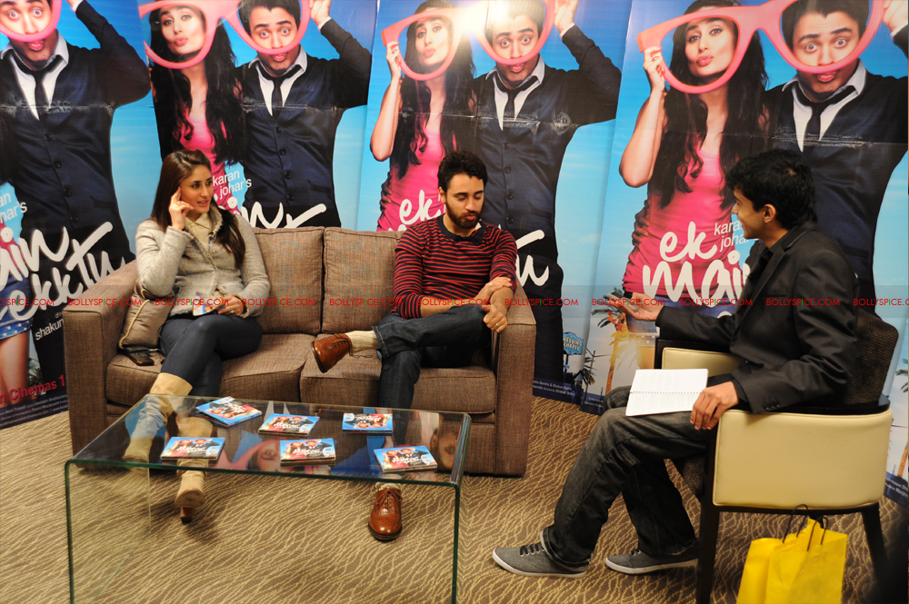 12jan imran kareena london03 Imran and Kareena excited to meet UK fans at Cineworld
