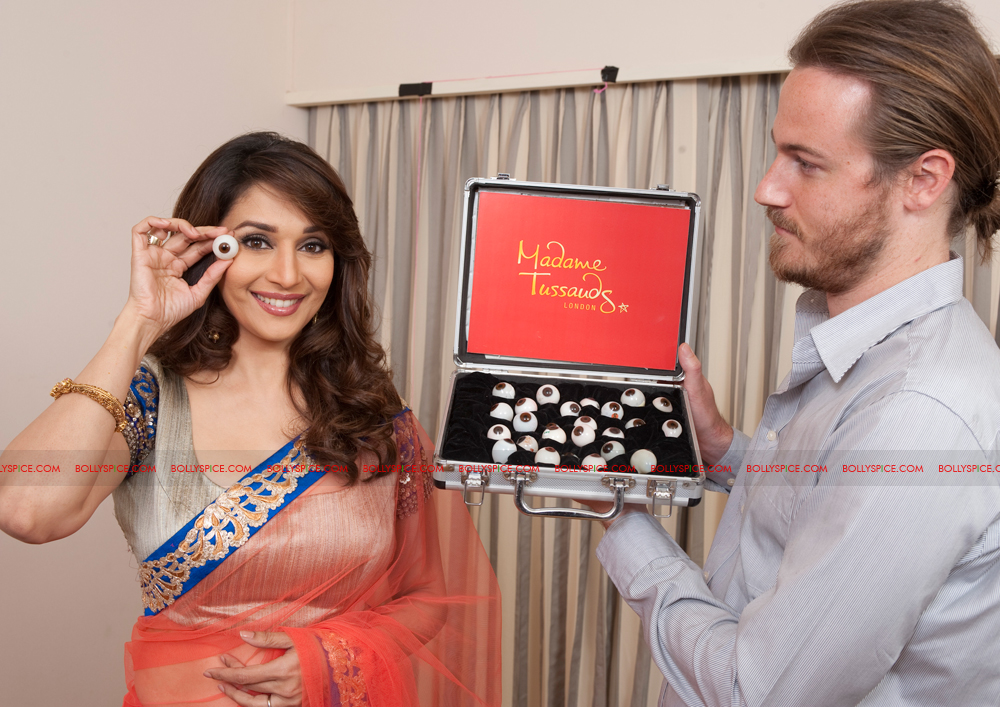 12jan madhuri nxttussaud01 Madhuri Dixit Nene next to have a wax figurine at Madame Tussauds Museum