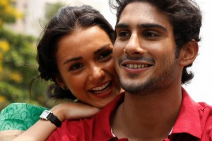 Amy Jackson Prateik Babbar 300x200 Amy Jackson makes Bollywood debut in A.R. Rahman's Musical Ekk Deewana Tha
