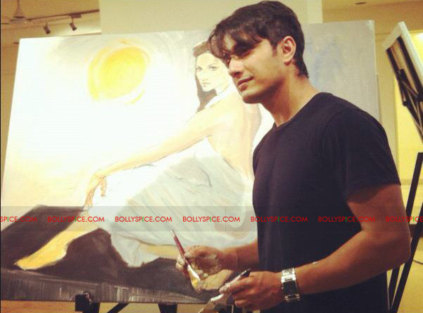 12feb LPNY alizafar paint16 Ali Paints Aditi for London Paris New York