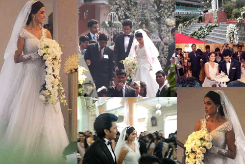 12jan churchwedding Report: Riteish & Genelia Big Fat Bollywood Wedding!