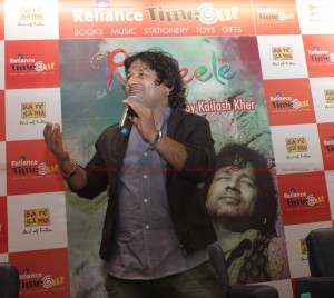 12jan kailash rangeelelaunch01 300x268 Kailash Kher's Music Band 'Kailasa' launches its latest music album 'RANGEELE' at Reliance TimeOut