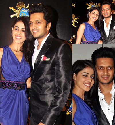 12jan preweddingbash Report: Riteish & Genelia Big Fat Bollywood Wedding!