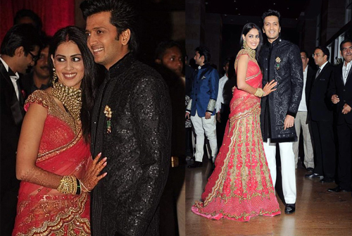 12jan reception Report: Riteish & Genelia Big Fat Bollywood Wedding!