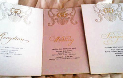 12jan theinvitation Report: Riteish & Genelia Big Fat Bollywood Wedding!