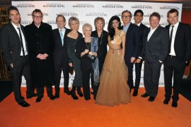 .The Best Exotic Marigold Hotel.Curzon, Mayfair London 8.2.12..Pix by.Jon furniss.jon@jonfurniss.com.07710219616...