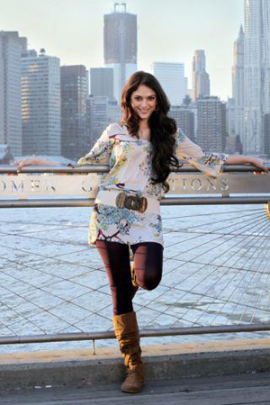"12mar LPNY aditi02 ""London Paris New York has a very youthful, energetic freshness but it is also a little heavy""   Aditi Rao Hydari"
