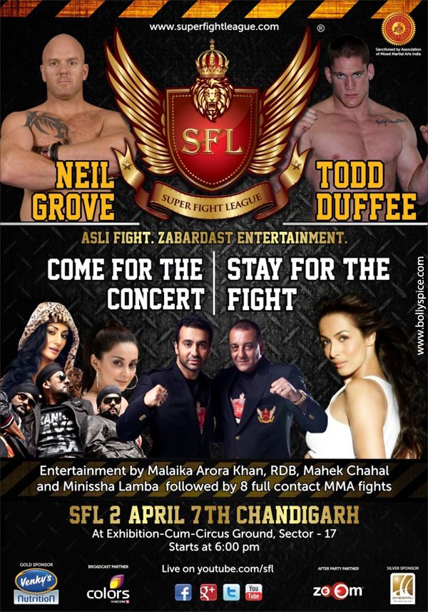 12mar SFL RDBnight RDB to delight Chandigarh fans at Super Fight Leagues second fight