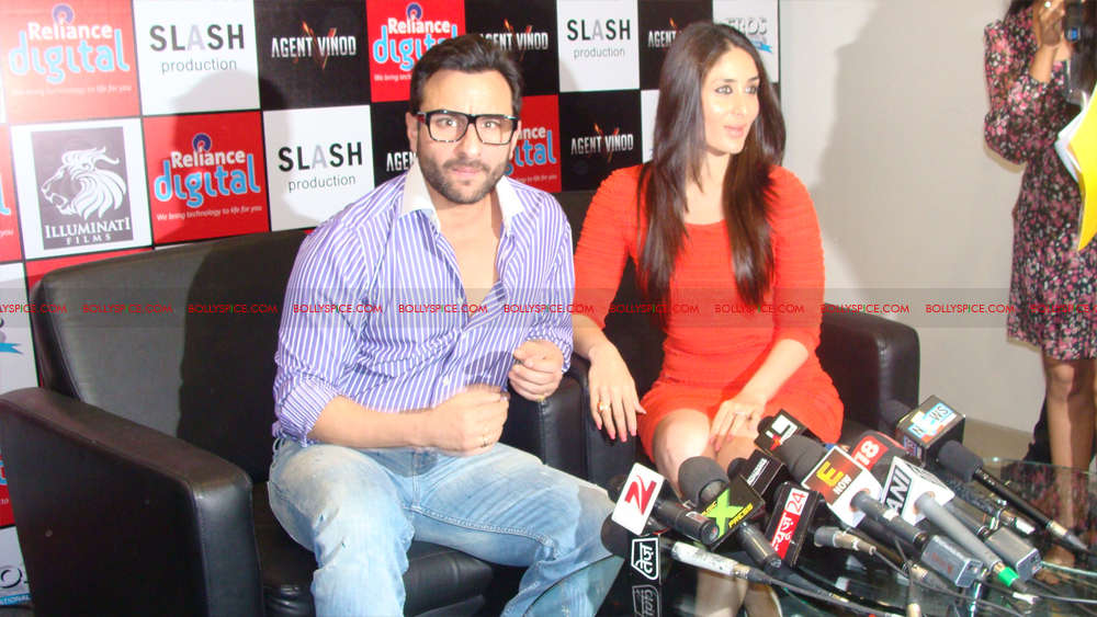 12mar agentvinodPC04 BollySpice at Agent Vinod Press Conference