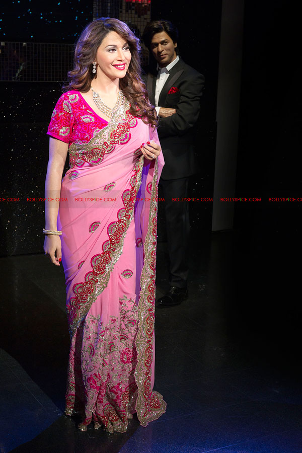 12mar madhuri tussauds03 Meeting my wax double today is very surreal   Madhuri unveils her statue at Madame Tussauds!