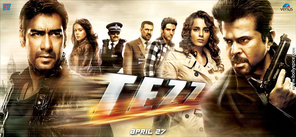 12mar tezz Hposter01  'Tere Bina' from Tezz Is a Sufi Touch In an Action Film