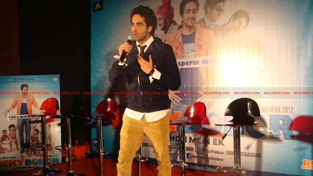 12mar vickydonorlaunch02 John Abraham at the launch of his maiden production Vicky Donor!