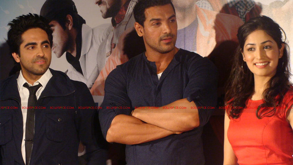 12mar vickydonorlaunch10 John Abraham at the launch of his maiden production Vicky Donor!
