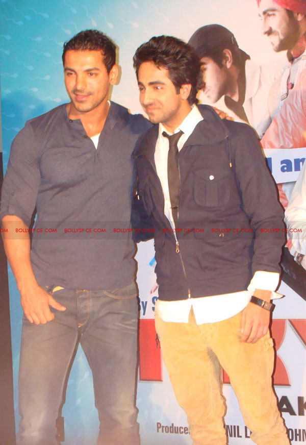 12mar vickydonorlaunch19 John Abraham at the launch of his maiden production Vicky Donor!