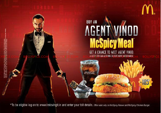 mar12 avmcdonalds01 Wanna meet Saif? Just check out McDonalds Agent Vinod McSpicy Meal!!