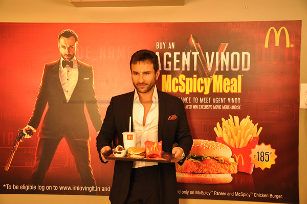 mar12 avmcdonalds02 Wanna meet Saif? Just check out McDonalds Agent Vinod McSpicy Meal!!