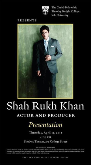 04apr srkchubb Shah Rukh Khan receives Yales highest honours