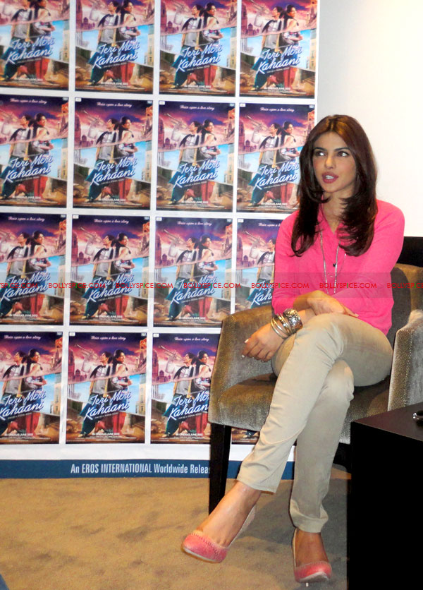 12apr PC TMK pressconf Priyanka Chopra at Teri Meri Kahaani Press Conference in London