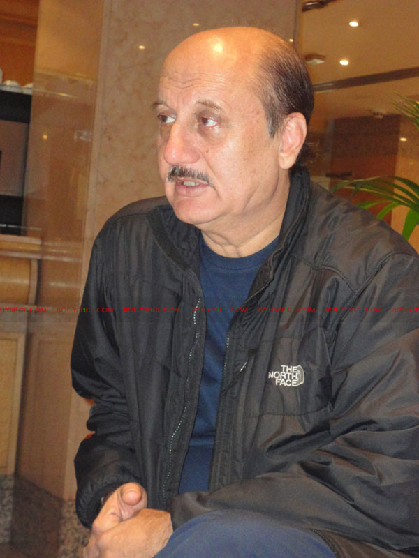 12apr anupam intrvw02 If you enjoy what you are doing then the people will enjoy it.   Anupam Kher