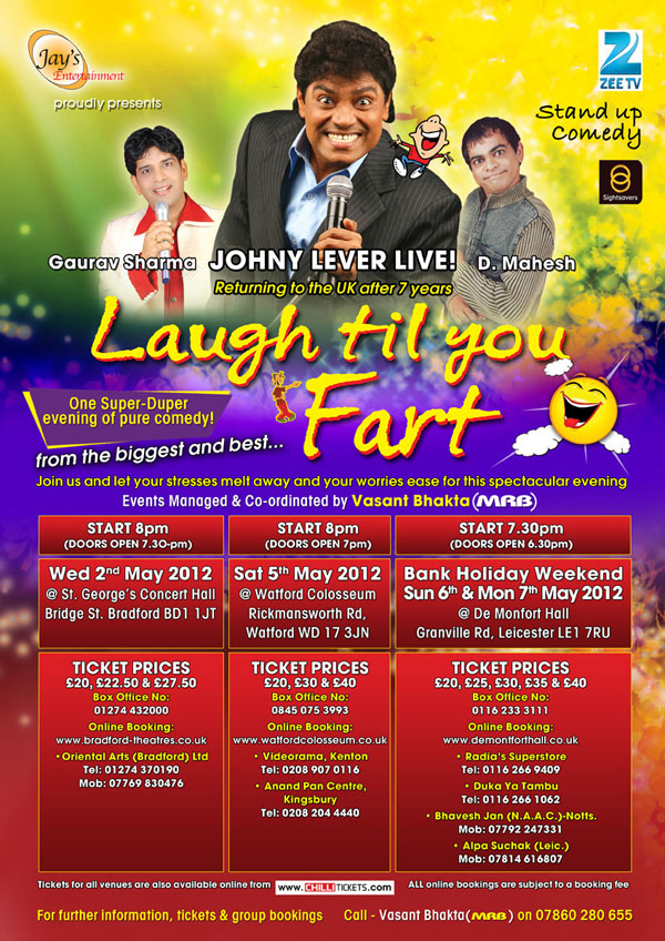 12apr johnylever LTUF01 Comedy King Johny Lever returns with a spectacular evening 'Laugh till you fart'