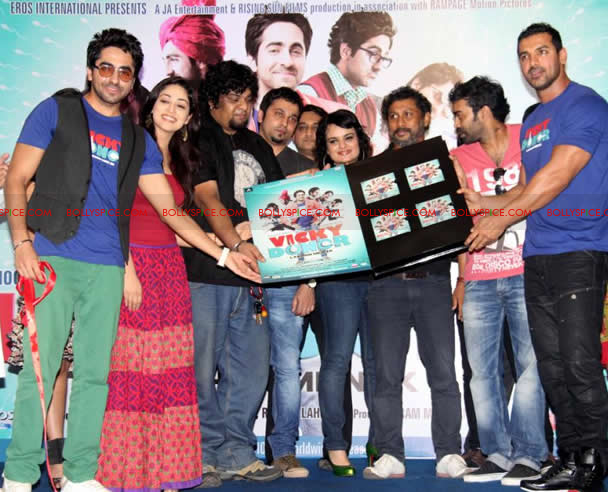 12apr vickydonor musiclaunch13 BollySpice at the Vicky Donor music launch