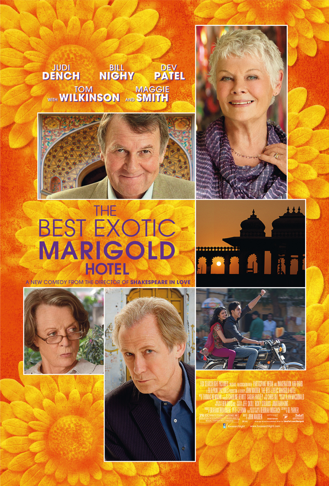12mar TBEMH review The Best Exotic Marigold Hotel reaches US Top 10
